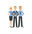 Three Managers Teamwork vector image vector image