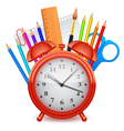 Time to school concept vector image vector image
