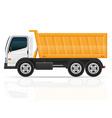 tipper truck vector image