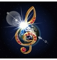 treble clef gems Earth flash space vector image vector image