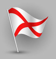 triangle american state alabama flag vector image