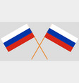 two russian crossed flags vector image