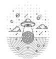 Ufo in dark night vector image vector image