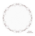 victorian round frame of calligraphic design page vector image vector image