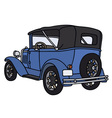 Vintage blue convertible vector image vector image