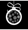 Xmas ball made of white snowflakes EPS8 vector image