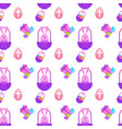easter seamless pattern with painted eggs and vector image