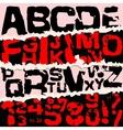 on paper background Grunge vector image
