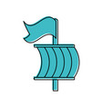 sailing boat isolated icon vector image