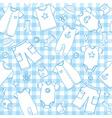 baby boy seamless pattern vector image