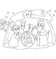 Mary Joseph and Jesus vector image