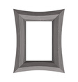 Vintage Wooden picture frame of black wood vector image
