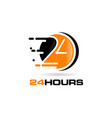 24 hours logo design symbol icon vector image