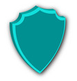 3d blue shield vector image vector image