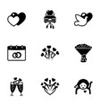 9 holiday filled icons set isolated on white vector image vector image