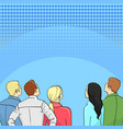 a crowd of spectators stand back retro style pop vector image vector image