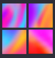 a set trendy liquid backgrounds multicolor vector image vector image