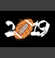 abstract number 2019 and a football ball of blots vector image vector image