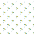 Beach umbrella pattern cartoon style vector image vector image