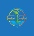 beautiful sunshine logo vector image vector image