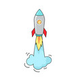 big image of flying rocket vector image
