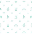 biology icons pattern seamless white background vector image vector image