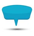 blue cartoon comic balloon speech bubble vector image vector image