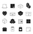 box symbols wooden and cardboard stack export vector image vector image