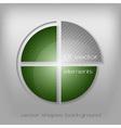 business circle green gray vector image vector image