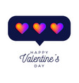 card or flyer valentine rainbow heart like vector image vector image