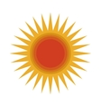 cartoon sun icon vector image vector image
