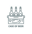 case beer line icon case beer vector image vector image