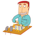 chess time with mouses vector image vector image