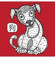 Chinese Zodiac Animal astrological sign dog vector image