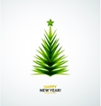 Christmas tree modern geometric design vector image vector image