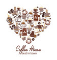 coffee poster for cafeteria or coffeehouse vector image vector image