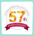 colorful polygonal anniversary logo 3 057 vector image vector image