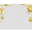 congratulation border with golden balloons vector image