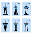 Control tower icons vector image vector image