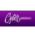 cyber monday typography for card banners ads vector image vector image