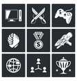 Electronic Sports icons set vector image vector image