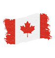 flag of canada grunge abstract brush stroke vector image