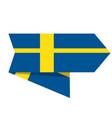 flag of sweden on a label vector image vector image
