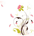 floral theme vector image vector image