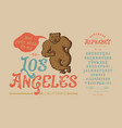 font los angelesvintage typeface design vector image
