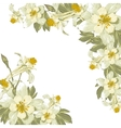 Frame with white blooming flowers vector image vector image