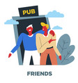 friends human need relationship and friendship vector image vector image