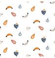 fruits handdrawn pattern background seamless vector image