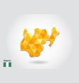geometric polygonal style map of nigeria low poly