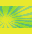 green yellow pop art background vector image